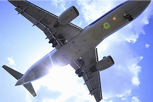 妊娠中の飛行機
