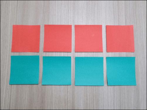 2折り紙で作るクリスマス