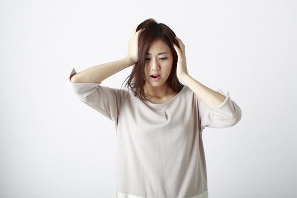抜け毛に悩む妊婦