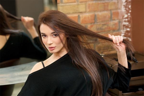 髪の毛が綺麗な妊婦さん