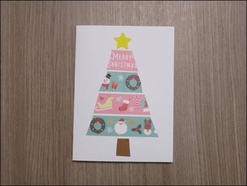 クリスマスカード子供と作る1
