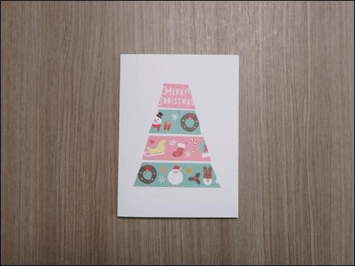 クリスマスカード子供と作る4