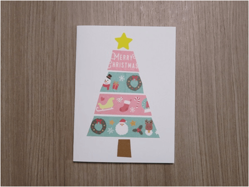 クリスマスカード子供と作る5