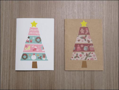 クリスマスカード子供と作る6